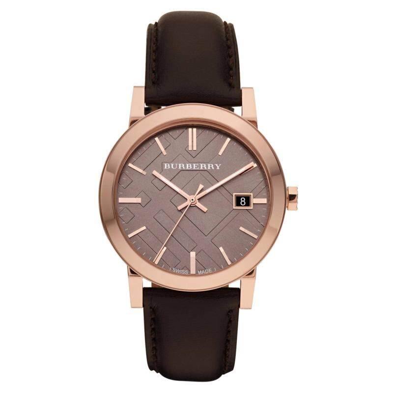 Burberry Mens The City Rose Gold-tone Brown Leather Watch BU9013 Malaysia