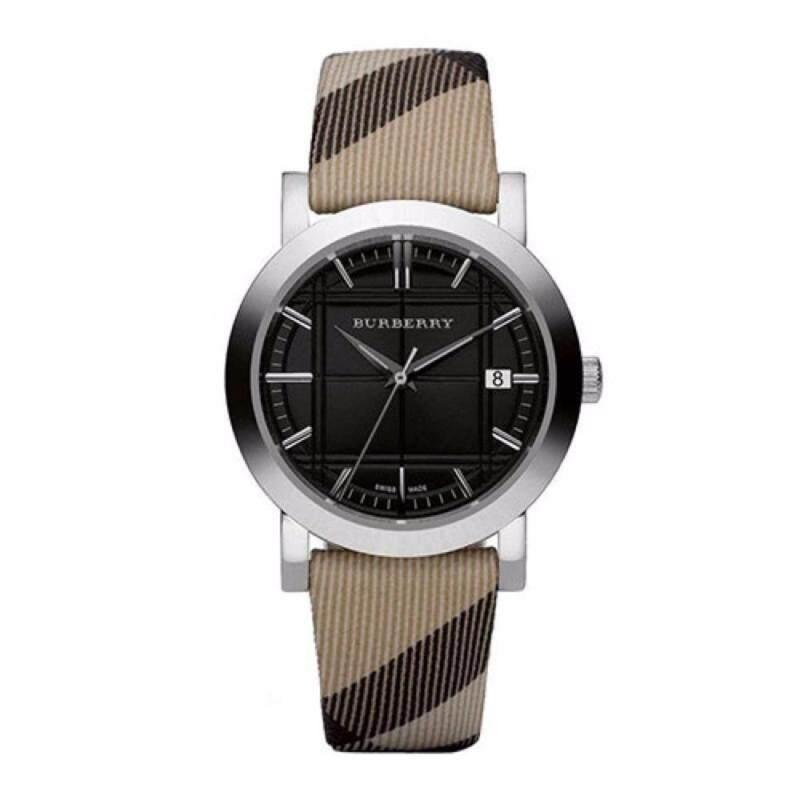 Burberry Unisex Classic Black Dial Pattern Febric Watch BU1772 Malaysia