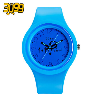 Candy-colored watches for men and women students Korean-style simple Stylish ulzzang silicone small fresh luminous children's cute - 2