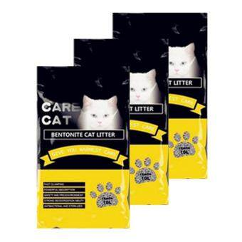 Care Cat Bentonite Cat Litter 10L Lemon x 3