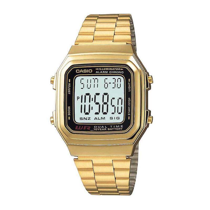Casio A178WGA-1AD Digital Gold Stainless Steel Watch (100% Authentic) Malaysia