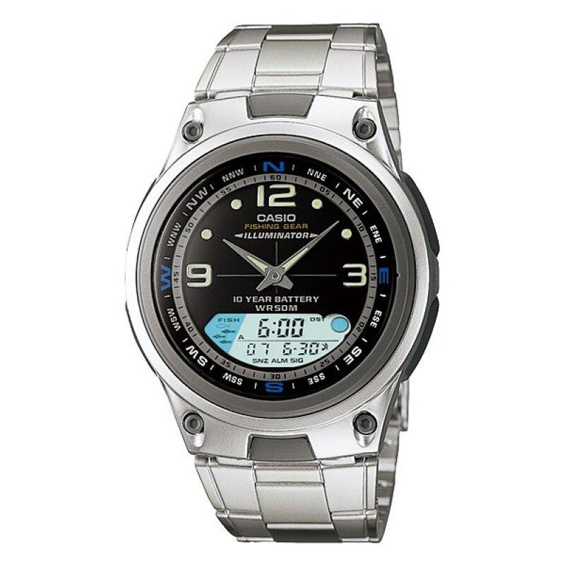 Casio AW-82D-1A Fishing Gear Moon Data Analog Digital black Dial Watch AW-82D Malaysia