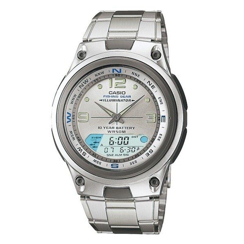 Casio AW-82D-7A Fishing Gear Moon Data Analog Digital Silver Dial Watch AW-82D Malaysia