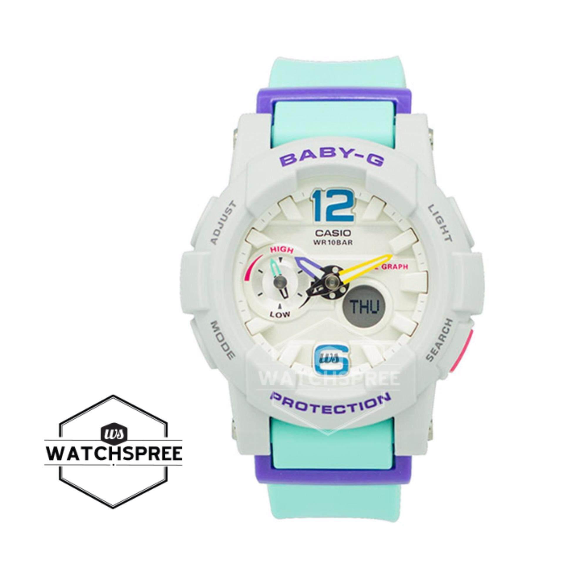Casio Baby G Bga 180 2b3 Biru Harga Terkini Dan Terlengkap Bgs Jam Tangan Wanita Muda Resin Bga180 Source Lide Series Mint Band Watch 3b
