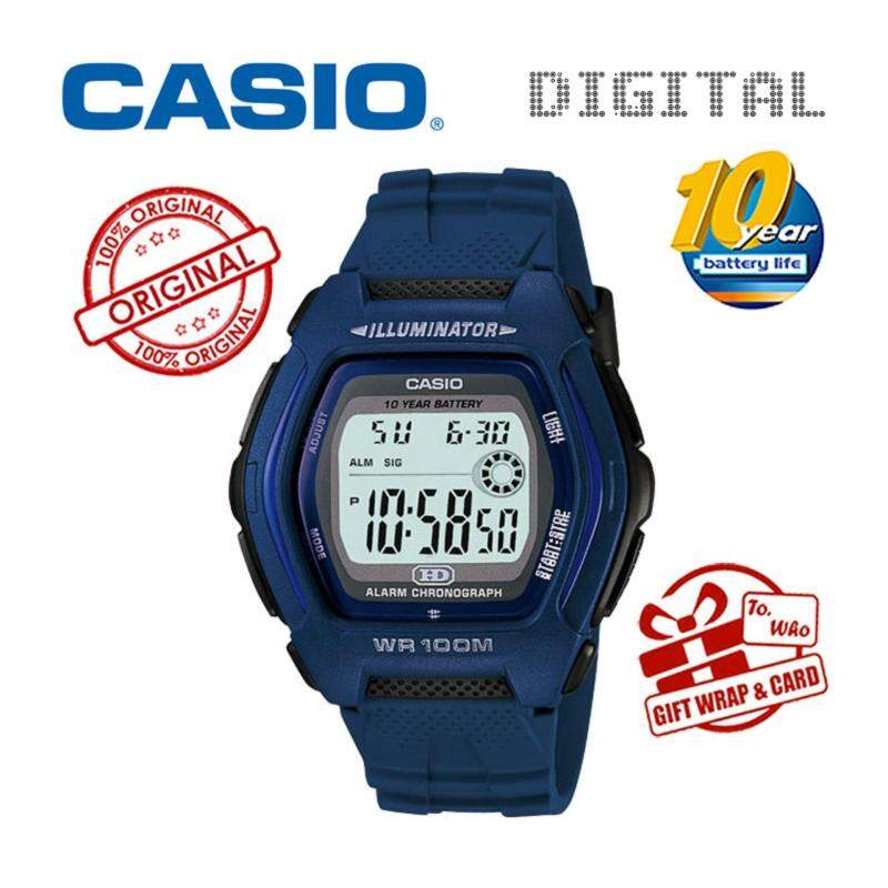 CASIO DIGITAL HDD-600C-2AV Watch - Dual Time 10 Years Battery Life Malaysia