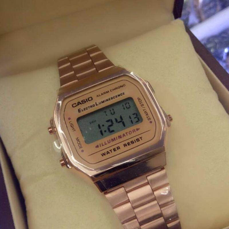 Casio Digital Rose Gold Fancy Watch Malaysia