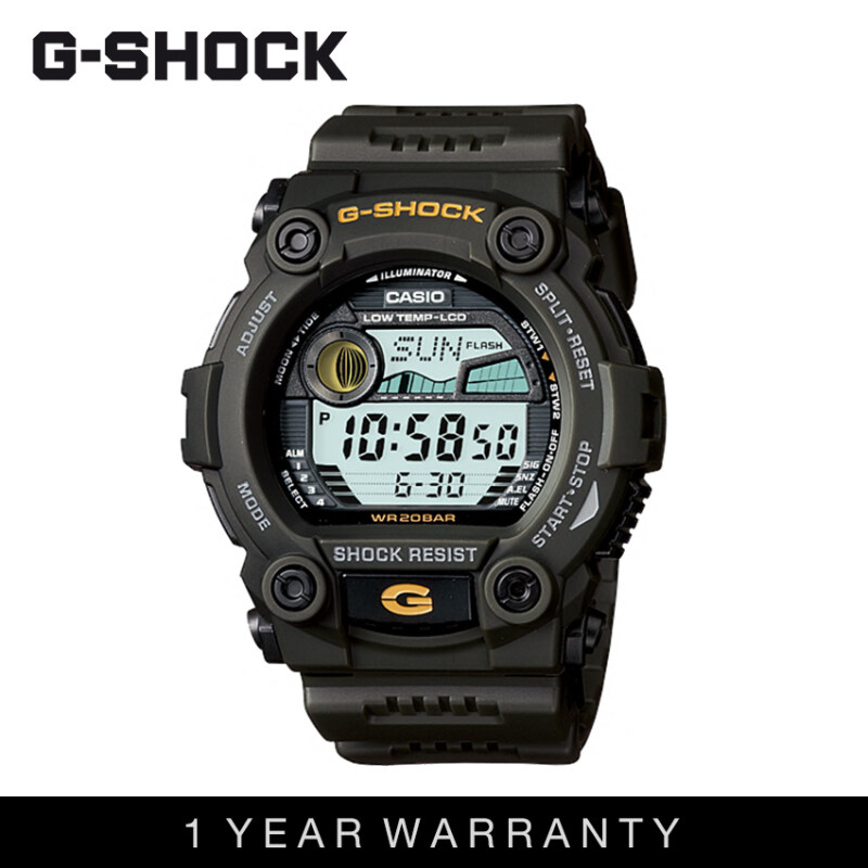 Casio G-Shock Men G-7900-3DR Black Gold Sports Resin Watch Malaysia