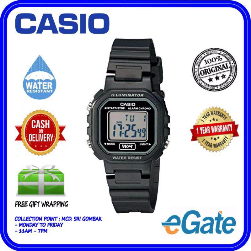 Casio LA-20WH-1A Unisex Kids Black Resin Strap Original Watch Malaysia