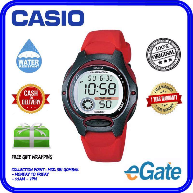 Casio LW-200-4A Digital Unisex Watch - Red Fashion Original Malaysia