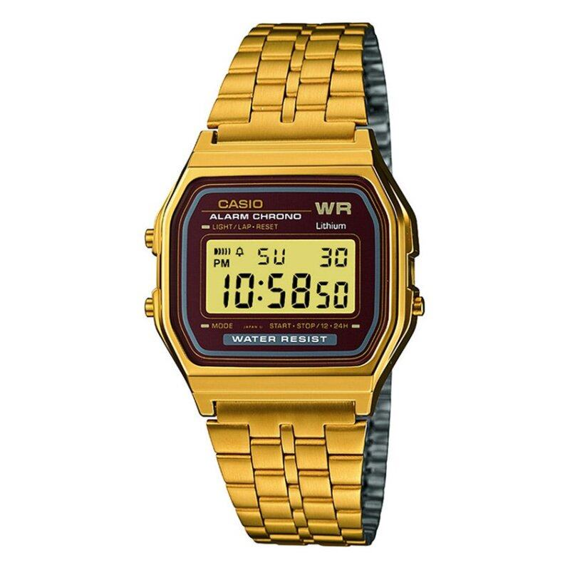 Casio Men Classic Brown Dial Gold Stainless Steel Watch A159WGEA-5DF Malaysia
