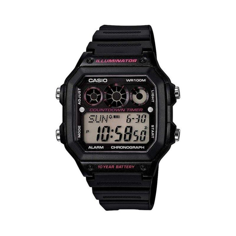 Casio Men Red Black Resin Strap Watch AE-1300WH-1A2VDF Malaysia