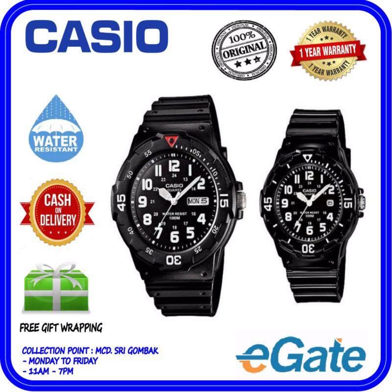 Casio MRW-200H-1BV & LRW-200H-1BV Analog Couple Watch - Black Casual Original Malaysia