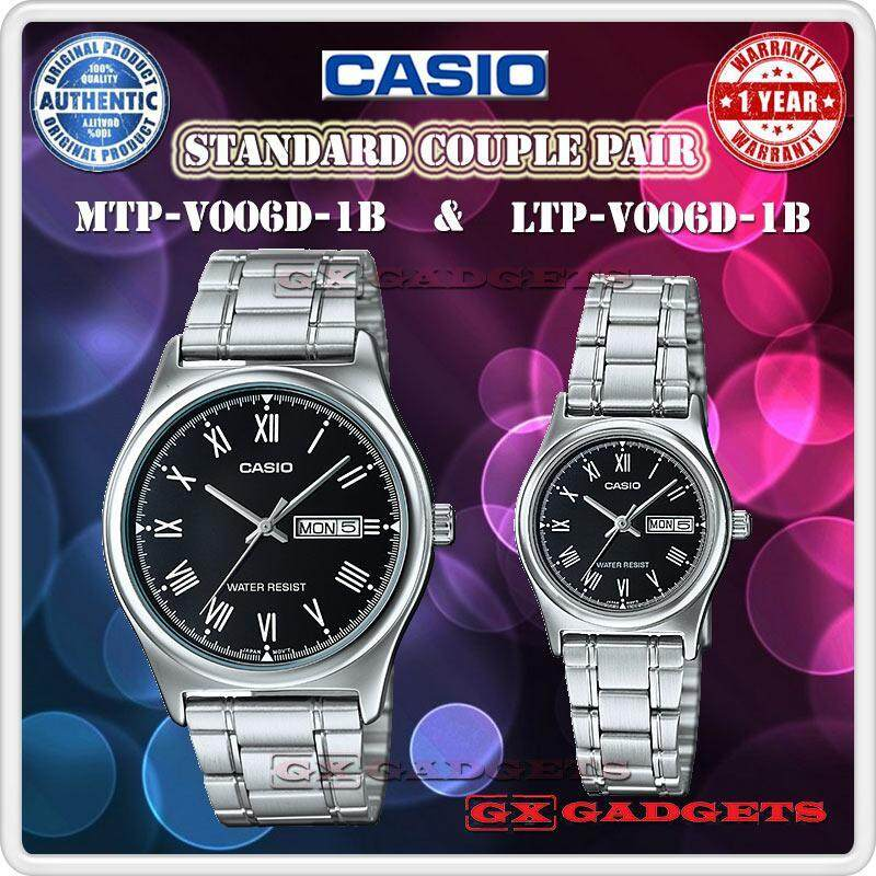 Casio Mtp-V006D-1B + Ltp-V006D-1B Couple Pair Watch Day Date S/S B. Wr - Silver Malaysia