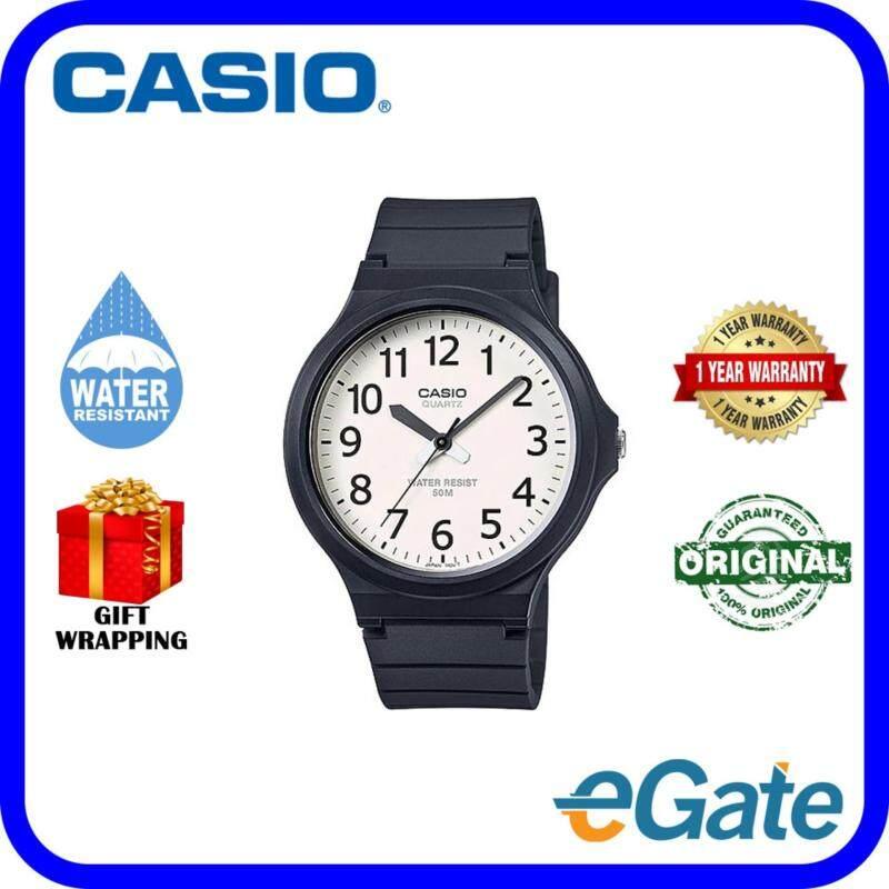 Casio MW-240-7B Analog Unisex Watch Black White Casual Original Malaysia