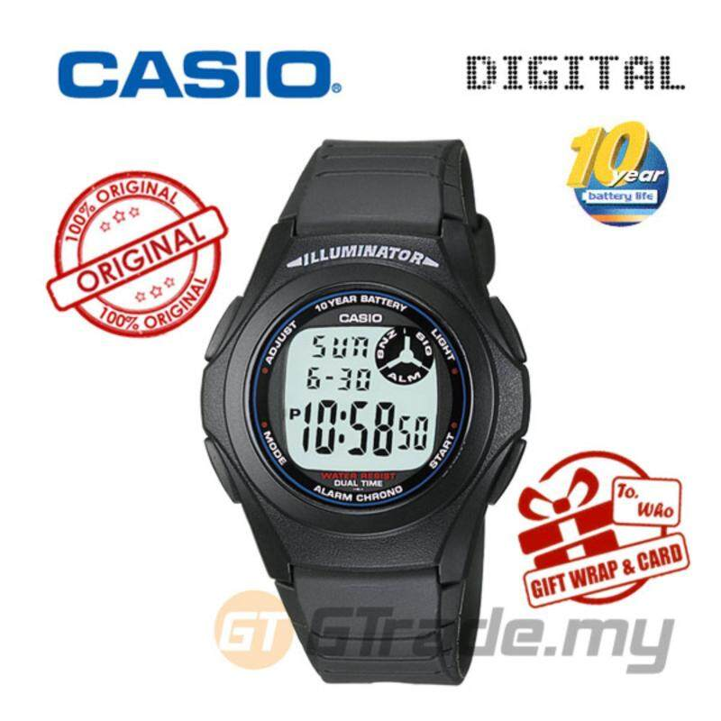CASIO STANDARD F-200W-1A Digital Watch - Classic Simple Young Design Malaysia