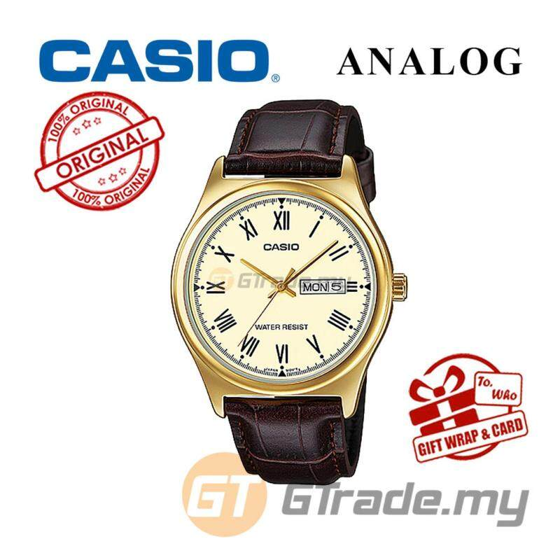 Casio Standard MTP-V006GL-9BV Analog Mens Watch - Gold Case Leather Malaysia