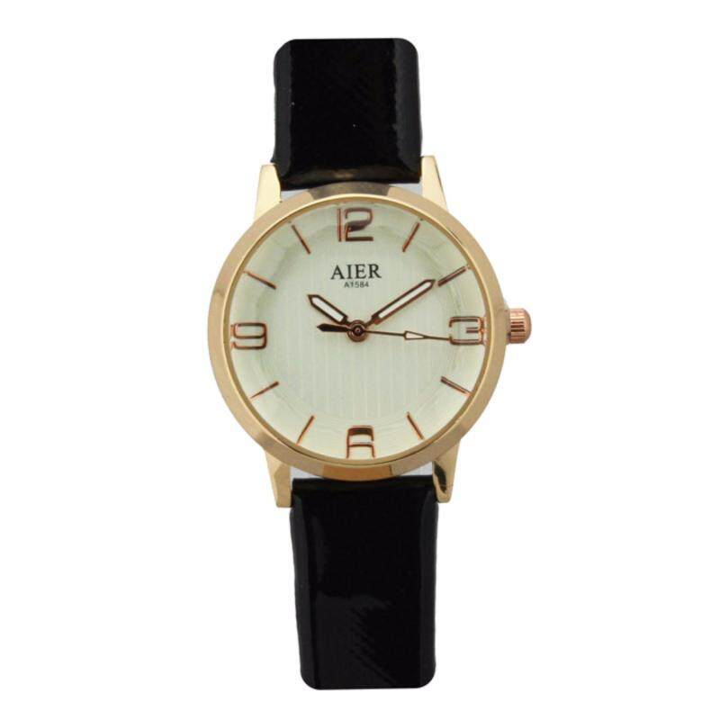 Casual Wear Special Elegant Dress Watches for Women Lady Girl Leather Strap Malaysia