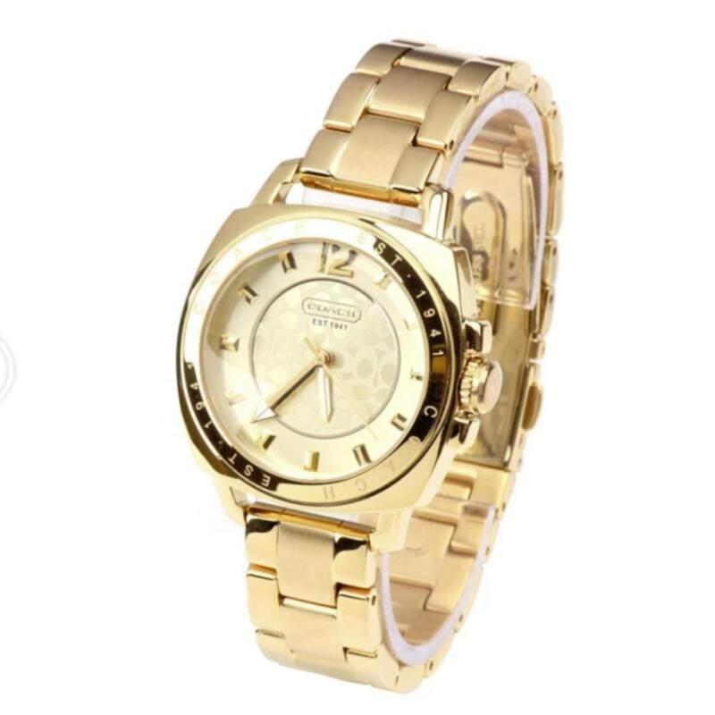 Classic Coach style Womens quartz Watch 14501534 (Gold) Malaysia