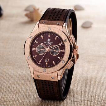 Classical HUBLOT Brand Sport Wrist Watch Men's Luxury Fashion Business Watch (Brown)