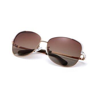 COASTAL VISION Polarized Women Gold sunglasses Oversize anti UVA/B lenses CVS5106 - 5