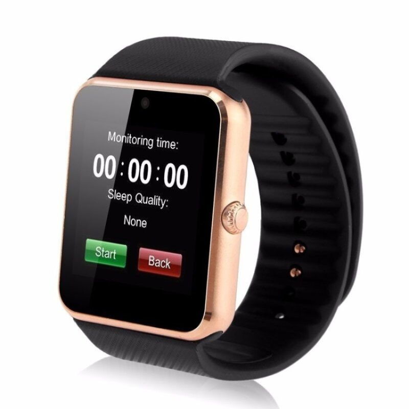 """Cocotina Luxury 1.54"""" Touch Screen Bluetooth Smart Wrist Watch Mens Women Phone Mate For Android IOS – Golden Malaysia"""