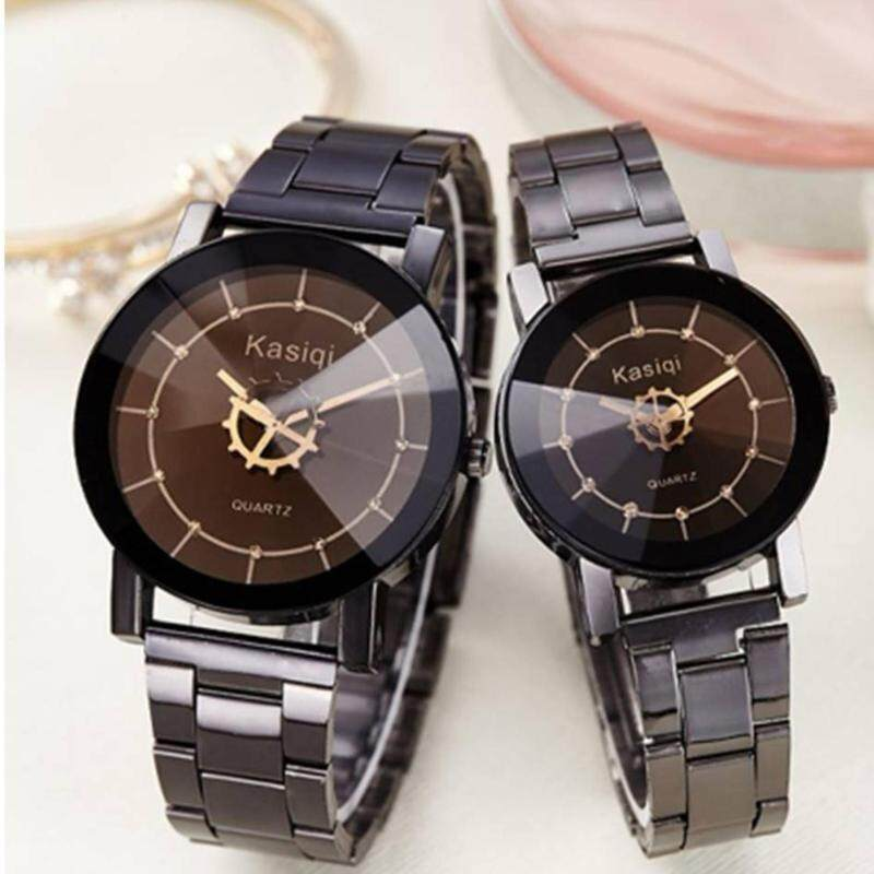 COUPLE Lovers Watch Casual Round Dial Stainless Steel Watch Malaysia