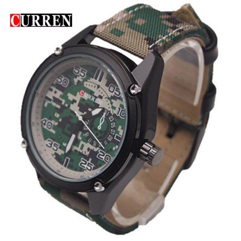 CURREN 8183 Tag Watch Army - Black Green Malaysia