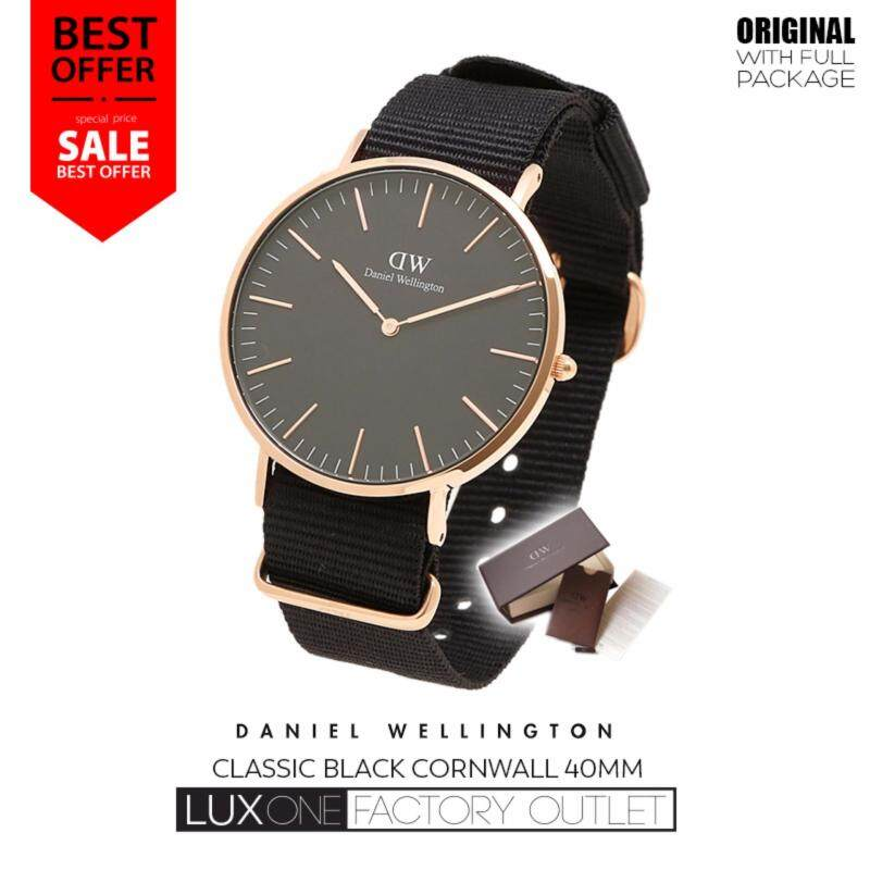 Daniel Wellington Classic Black Cornwall 40mm Watch Malaysia