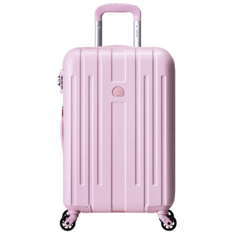 "Delsey Grasse trolley 25"" inch hard case 4 luggage - pink 