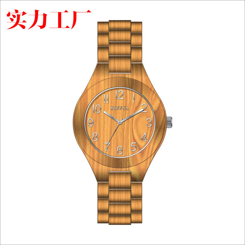 DIFFUL watch eco fashion watch manufacturer can customize wooden watch according to requirement Malaysia