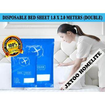 Harga Disposable Bed Sheets Travel Accessories 1.8 X 2.0 Meters (Double)