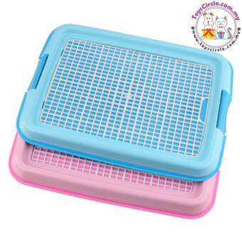 Dog Litter Tray Puppy Dog Indoor Toilet Pee Training Pad Tray Cats Pet Potty Toilet Cleaning Pot (PINK) 48cm (L) x 36cm (W) x 13.5cm (H)