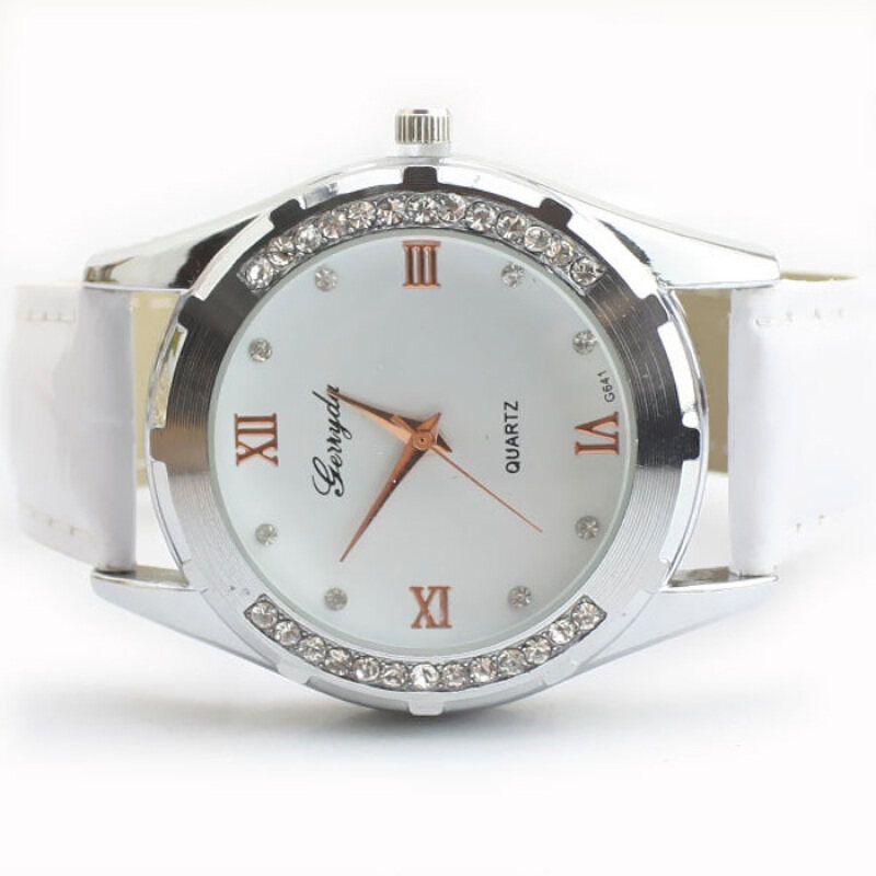 Elegant Women Girl Watch Rhinestone Quartz OL Ladies Wrist Watch White Malaysia