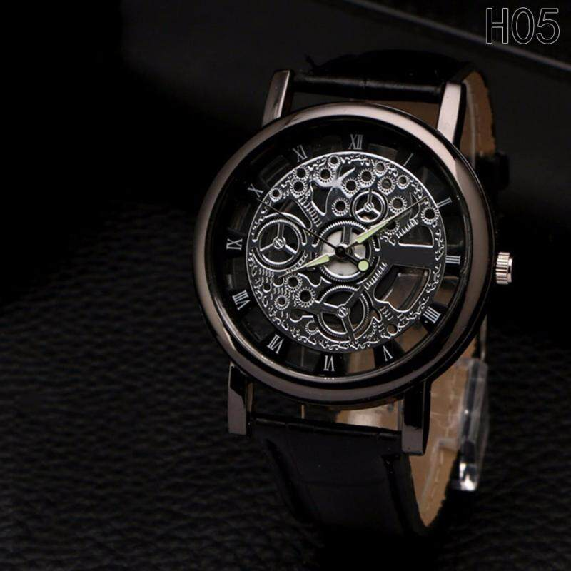 Fancyqube Business Skeleton Watch Men Women Engraving Hollow H05 Malaysia