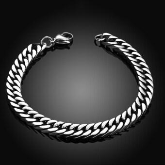Fashion Men's Jewelry 316L Titanium Stainless steel Male chain Linkbracelets bangle good gift for Men Husband Boyfriend Boy birthday - 3