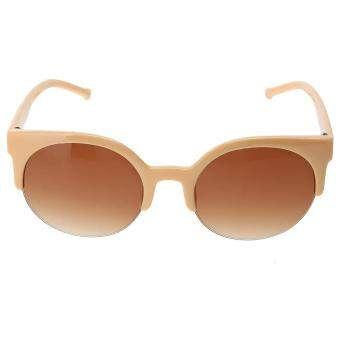 Fashion Plastic Trendy Hot Chic Half Frame Cat Eye RoundSunglasses(Not Specified)