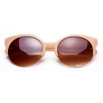Fashion Plastic Trendy Hot Chic Half Frame Cat Eye RoundSunglasses(Not Specified) - 4