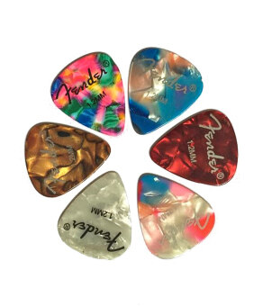 FASHION TEE Acoustic Electric Guitar Picks Plectrums with 1.2mm High Quality 6pcs