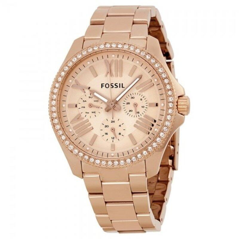 Fossil AM4483  Rose Gold-Tone Stainless Steel  Womens Watch Malaysia