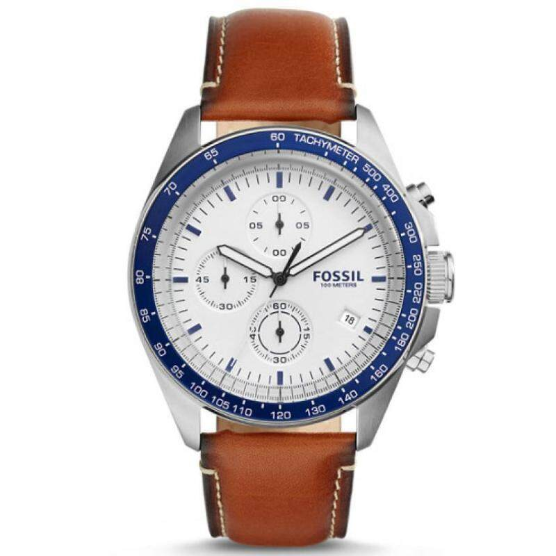 Fossil CH3029 Mens Sport 54 Chronograph Brown Leather Watch Malaysia