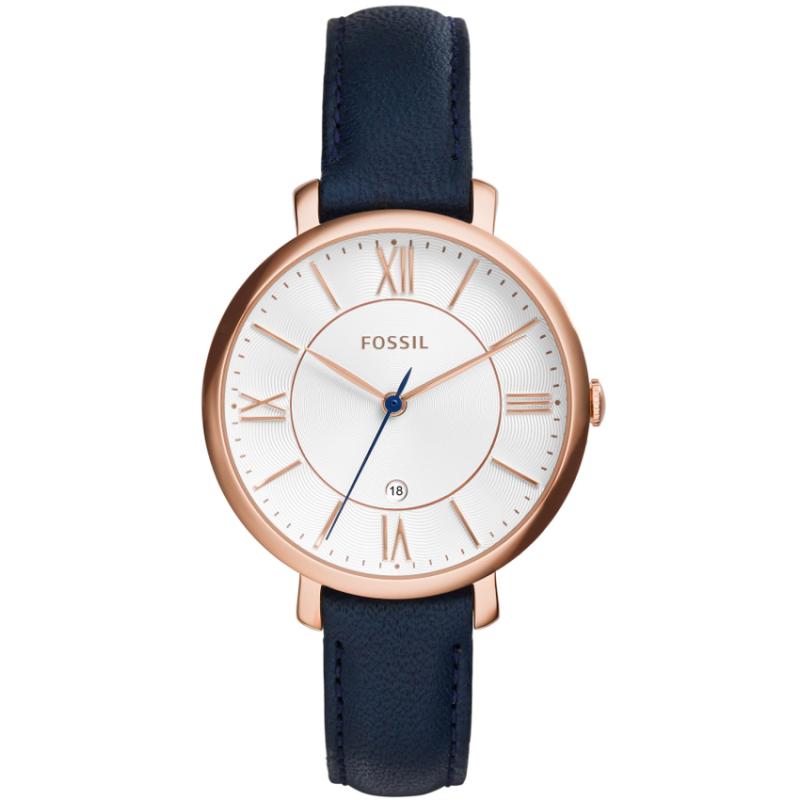 Fossil ES3843 Womens Jacqueline Quartz Blue Leather Watch Malaysia