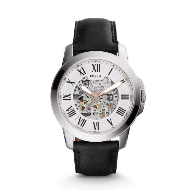 Fossil ME3101 Grant Automatic Black Leather Mens Watch Malaysia