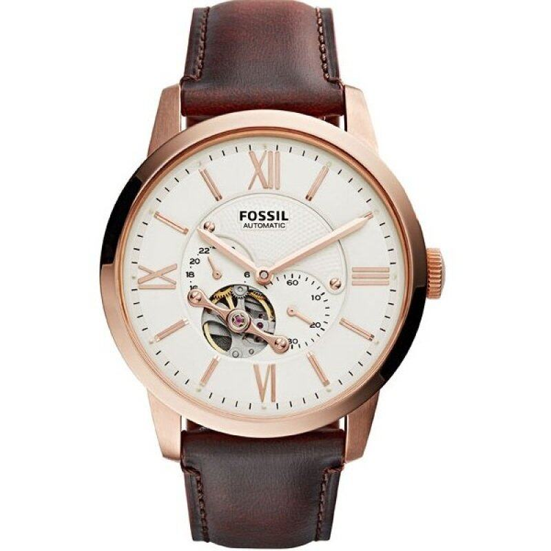 Fossil ME3105 Townsman Automatic Analog Brown Leather Watch Malaysia