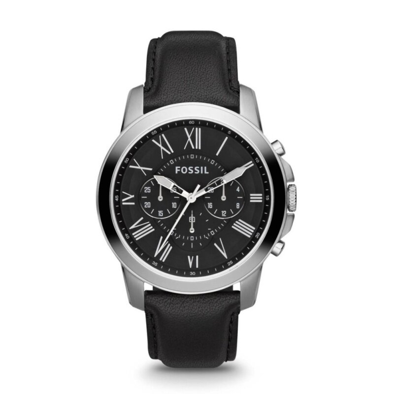 Fossil Men Grant Chronograph Black Leather Watch FS4812 Malaysia