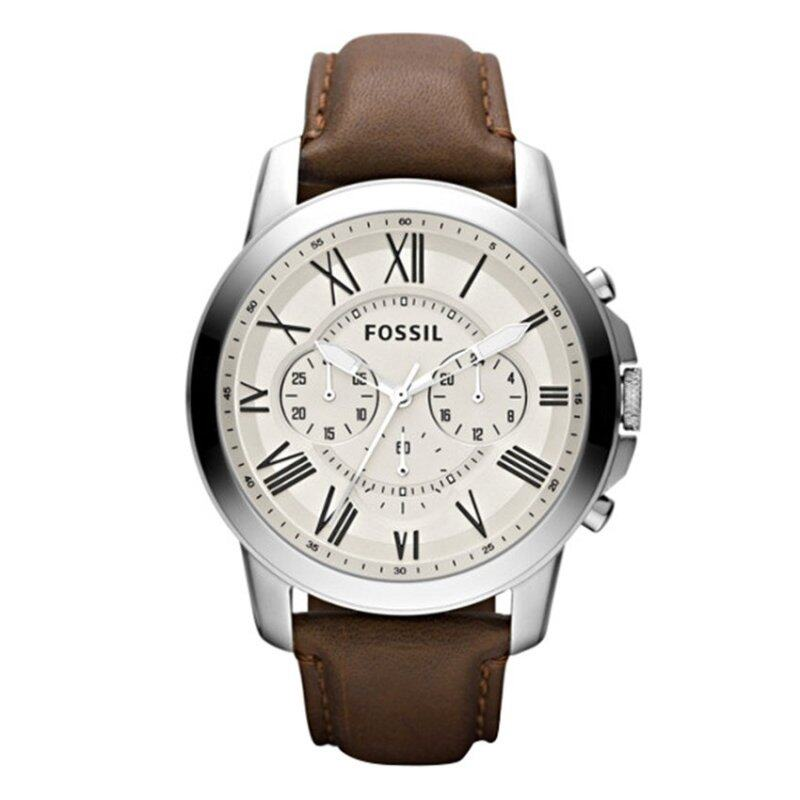 Fossil Men Grant Chronograph Brown Leather Watch FS4735 Malaysia