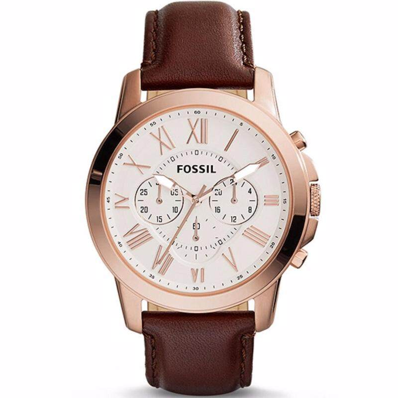 Fossil Men Grant Chronograph Brown Leather Watch FS4991 Malaysia