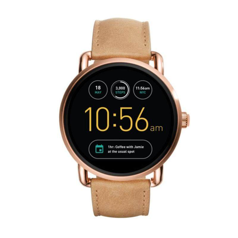 FOSSIL Q WANDER DISPLAY LIGHT BROWN LEATHER SMARTWATCH Malaysia