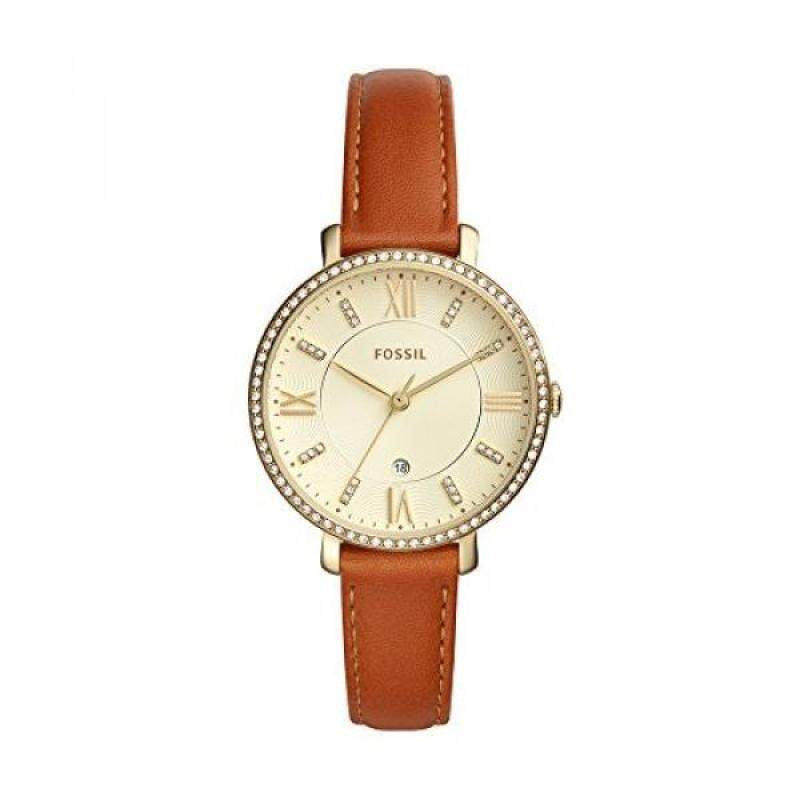 Fossil Womens Jacqueline Quartz Stainless Steel and Leather Casual Watch, Color:Brown Malaysia