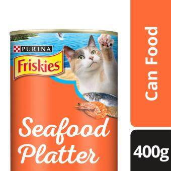 FRISKIES(R) Seafood Platter in Prawn Jelly Flavour Wet Cat Food Can (1 Can of 400g)