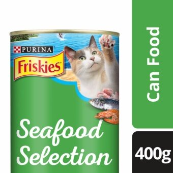 FRISKIES(R) Seafood Selection Sardine, Shrimp & Squid Flavour Wet Cat Food Can (1 Can of 400g)